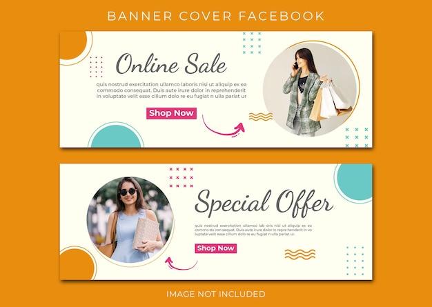 Baner facebook okładka sprzedaż szablon mody