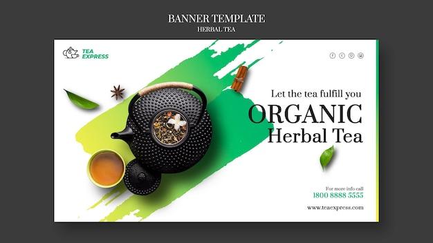 Baner herbaty ziołowej