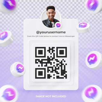 Baner ikona profilu na messenger 3d renderowania etykieta na białym tle