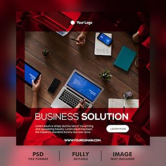 Baner marketingu cyfrowego biznesu i kwadratowa ulotka