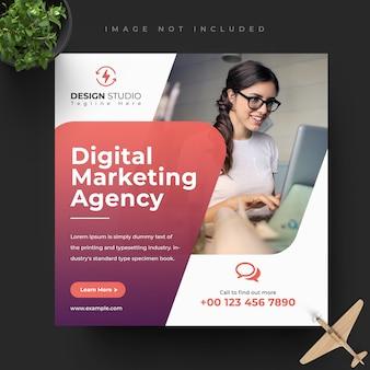 Baner mediów społecznościowych marketingu cyfrowego