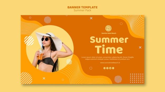 Baner na letnie wakacje