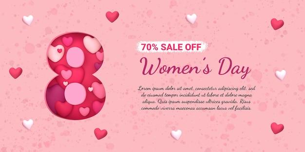 Baner na szablon obchodów dnia kobiet