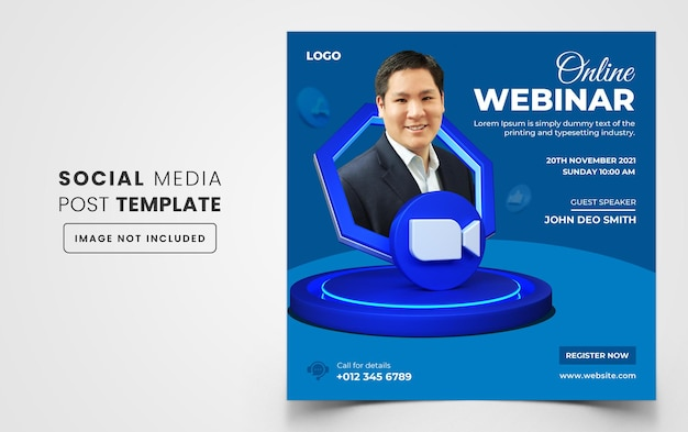 Baner na webinar biznesowy z marketingu cyfrowego