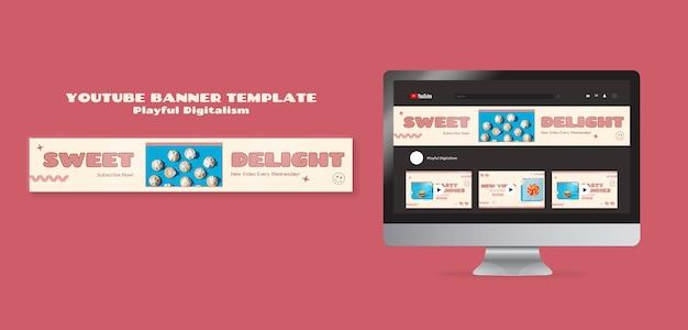 Baner na youtube ze słodyczami