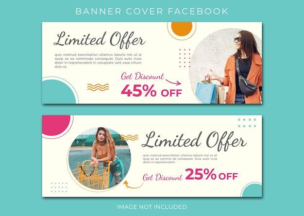 Baner okładka facebook sprzedaż szablon mody