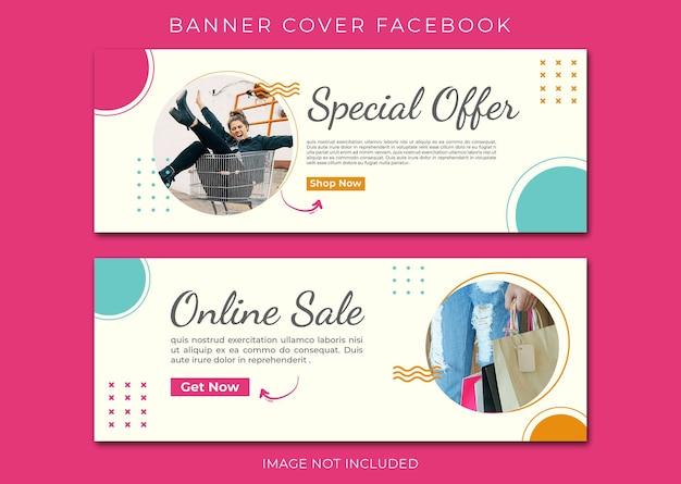 Baner okładka facebook szablon sprzedaży online