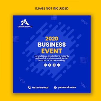 Baner pocztowy instagram wydarzenia biznesowego