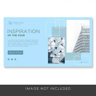 Baner strony docelowej architektura budowanie nowoczesnego szablonu