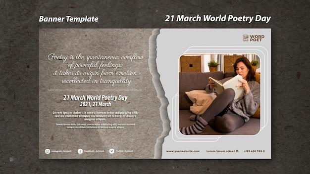 Baner światowego dnia poezji