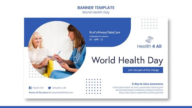 Baner światowego dnia zdrowia