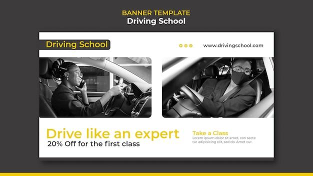 Baner szkoły jazdy