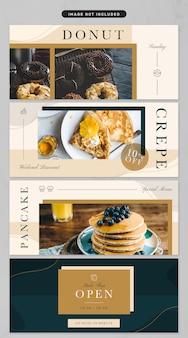 Baner w tematyce luksusowej kuchni