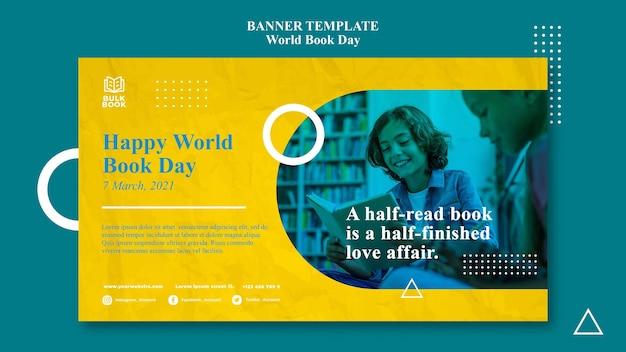 Baner wydarzenia światowego dnia książki