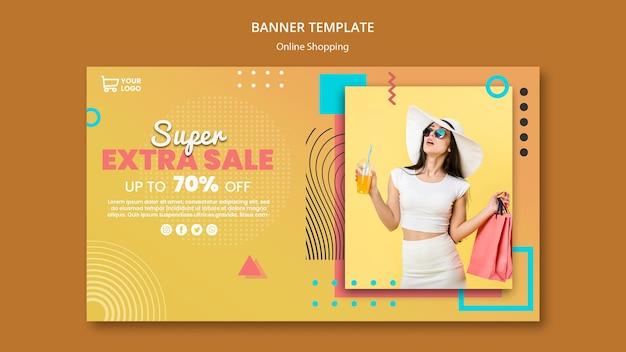 Baner z zakupami online