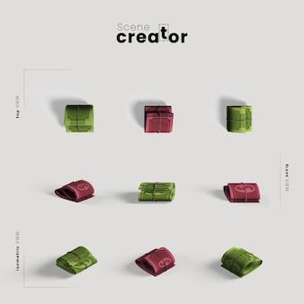 Banknoty pod różnymi kątami dla ilustracji twórców scen