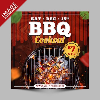 Banner cookout bbq, promocja