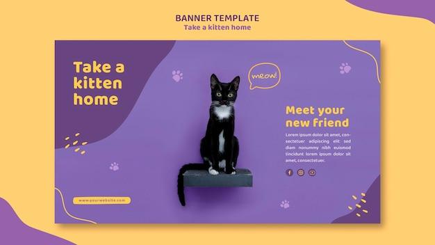 Banner przyjmuje szablon kotka