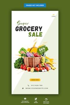 Banner sprzedaży świeżych produktów spożywczych