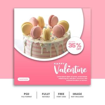 Banner valentine żywności