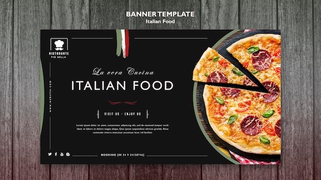 Banner włoskiego jedzenia