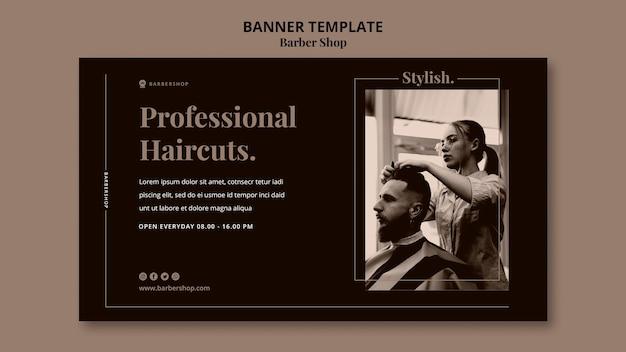 Barber shop poziomy baner