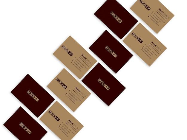 Bardzo elegancki projekt makiety wizytówki