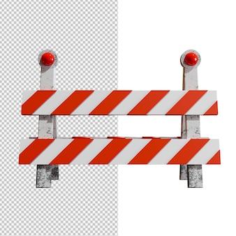 Bariera drogowa na przezroczystym tle