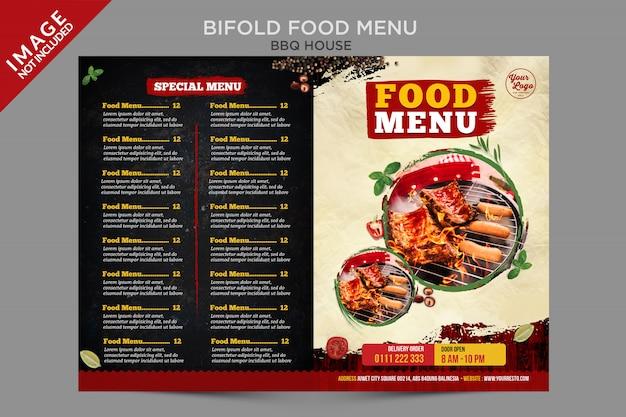 Bbq house food menu na zewnątrz serii bifold