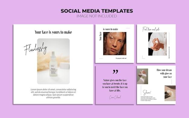 Beauty social media szablony postów na instagram