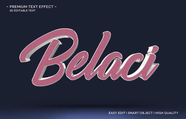 Belaci 3d szablon efektu stylu tekstu