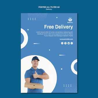 Bezpłatna dostawa szablonu plakatu