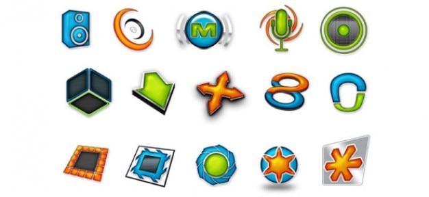 Bezpłatny zestaw szablonów logo