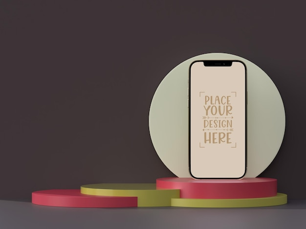 Bezramowa makieta pustego ekranu smartfona