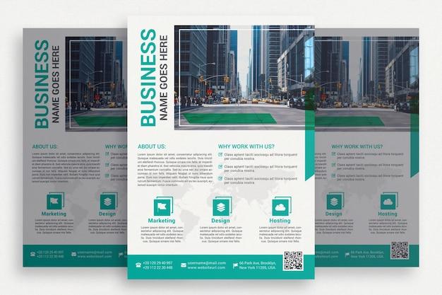 Biała broszura biznesowa