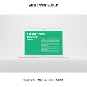 Biała makieta do laptopa