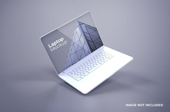 Biała makieta macbooka pro