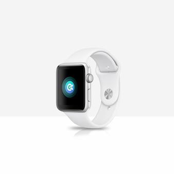 Biała makieta smartwatch