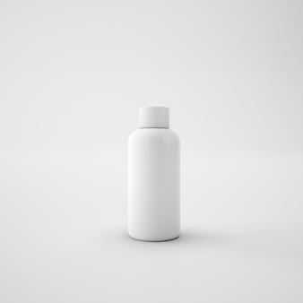 Biała metaliczna butelka