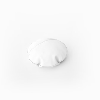 Biała miękka poduszka