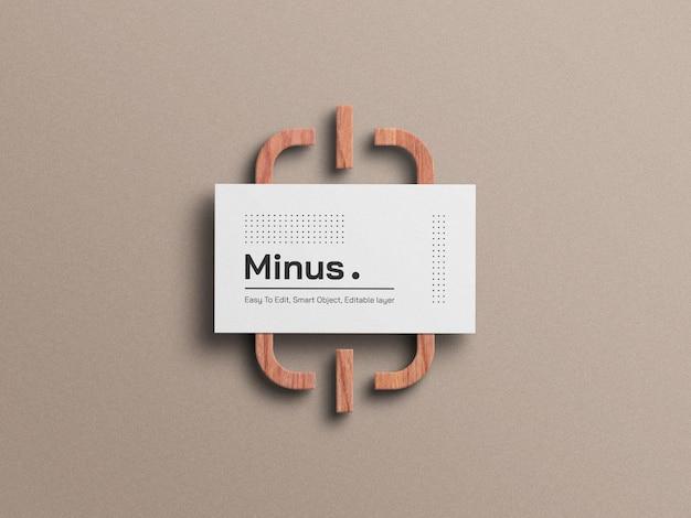 Biała minimalna makieta wizytówki