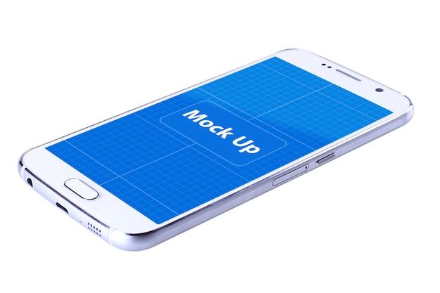 Biała mobilna makieta