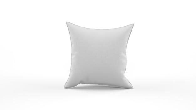 Biała poduszka na białym tle