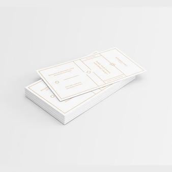 Biała wizytówka ze złotymi elementami konstrukcji
