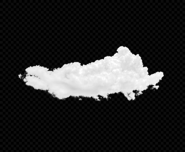 Białe chmury na białym tle premium psd