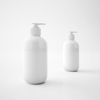Białe pojemniki na mydło