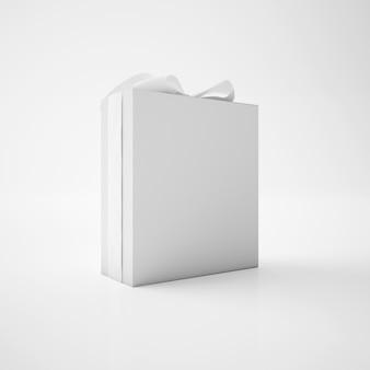 Białe pudełko ze wstążką