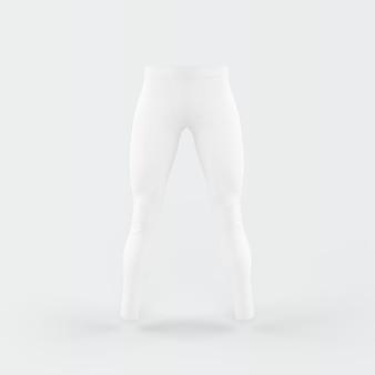 Białe spodnie unoszące się na białym tle