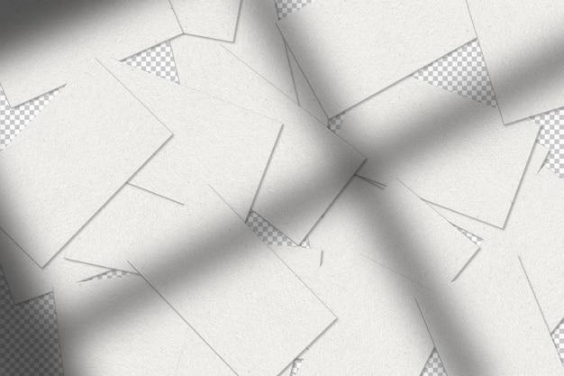Białe wizytówki z cieniem