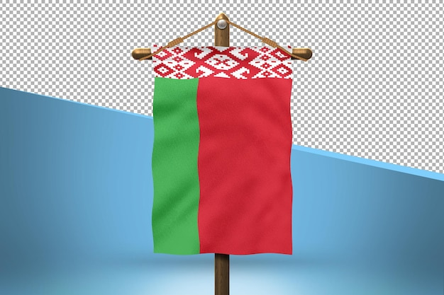 Białoruś powiesić flaga wzór tła